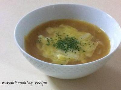 オニオングラタン風スープ