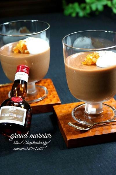 《レシピ》グランマルニエ香るオレンジチョコムース・粗びき黒胡椒風味♡ と、初!つくれぽを頂きました♪