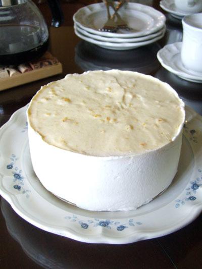 オレンジババロアシフォンケーキの作り方