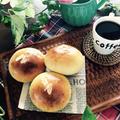 クリームパン持って。芝桜まつり。