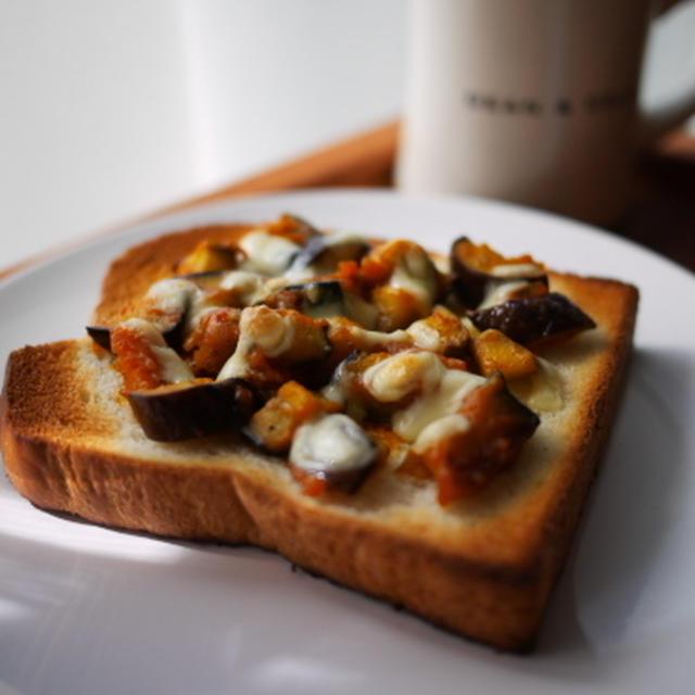 茄子とカボチャのイタリアン(?)トースト