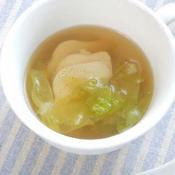 鶏ハムとレタスのセロリ塩スープ