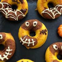 ハロウィンのおばけ焼きドーナツ