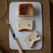 バナナとラム酒とラムレーズンのバスクチーズケーキ