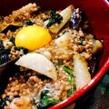 麻婆茄子と山芋ピリ辛炒め