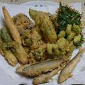 稚アユと春野菜の天ぷら
