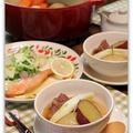 スペアリブと冬野菜のおでん&サーモンのムニエル