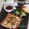 おソース香る竹輪チーズトースト!
