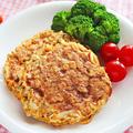 オートミールとちくわの梅しそハンバーグ【簡単ダイエットバーグ】|レシピ・作り方