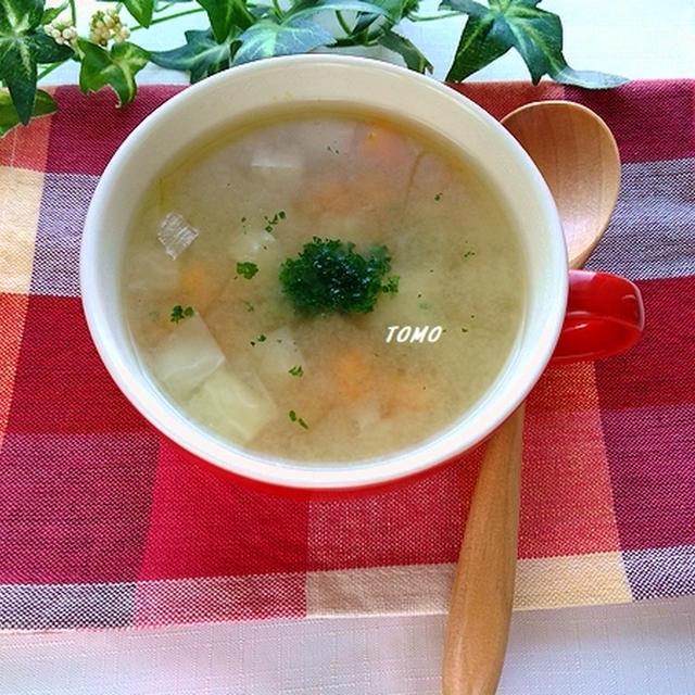 体が温まる♪ニンニク香る!お豆とオートミールのスープ