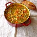 いろいろ野菜と赤レンズ豆のスープ。