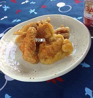 簡単おつまみ♪レンジで簡単!GABAN花椒塩 de 鶏皮せんべい
