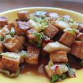 豆腐とキノコのピリ辛×甘辛炒め♪韓国の人気レシピ。おつまみにも