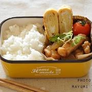 15分節約弁当☆甘辛い味がごはんに合う!豚肉のオイ照りがメインのお弁当