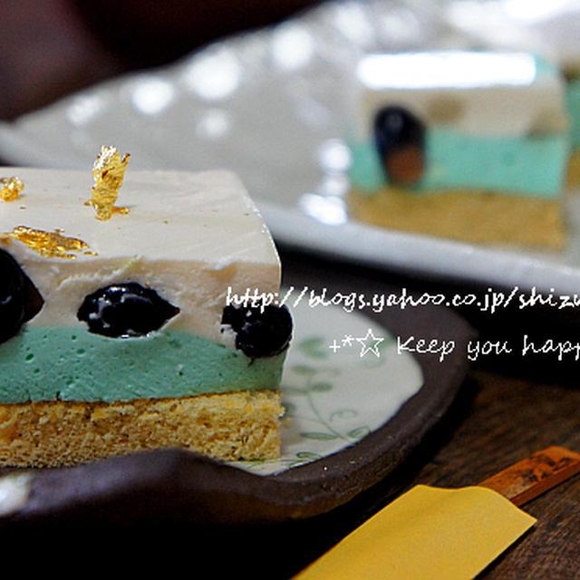 +*黒豆のレアチーズケーキ+*