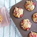 【レシピ】いちごと黄桃でジューシーに。さらっさらの日清全粒粉を使ったマフィン