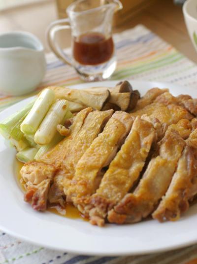鶏のソテーとシークワーサーぽん