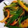 ★火を使わず3分料理・きゅうりとにらのピリ辛サラダ。 by いもさん