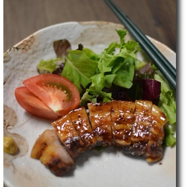 豚ばら肉の梅酒ひたし焼き