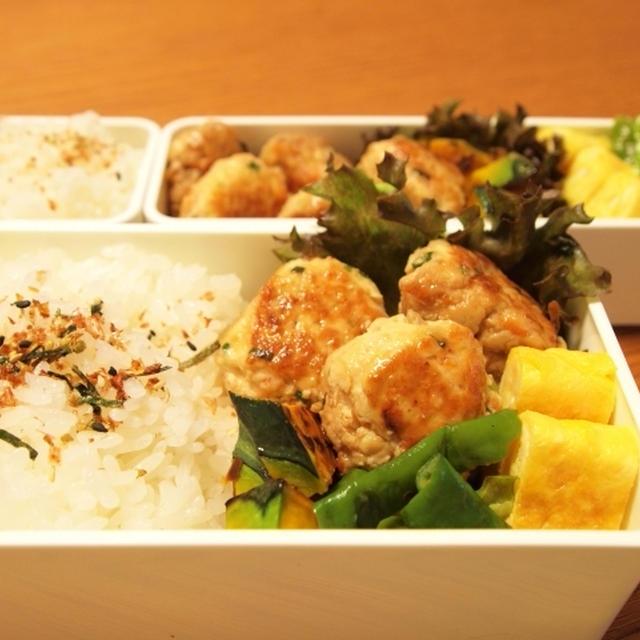 野菜と豆腐入り鶏つくね弁当