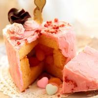 * バレンタイン ♡ ハートのサプライズケーキ♪