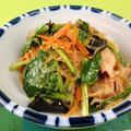 小松菜タップリ!豚肉と春雨のピリ辛炒め煮レシピ by 銀木さん