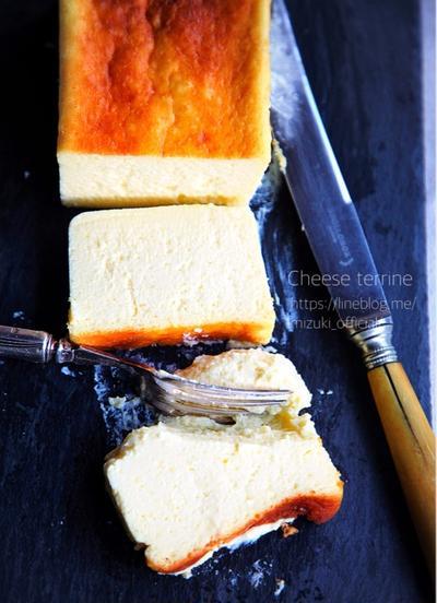 ♡混ぜて焼くだけ♡チーズテリーヌ♡【#チーズケーキ#お菓子#簡単】