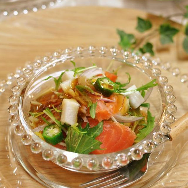 PONCYANさんの和風あんのサラダと懐かしい和食ご飯