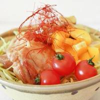 モランボン「ナムルの素」で鶏と野菜のカラフルナムル丼♪