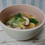青梗菜ときのこの中華スープ