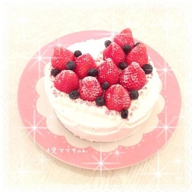 卵なしHMで簡単スポンジケーキ☆レシピ