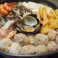 切って煮込むだけ~簡単!美味しい~♡海鮮塩ちゃんこ鍋&ハピバ弁 by とまとママさん