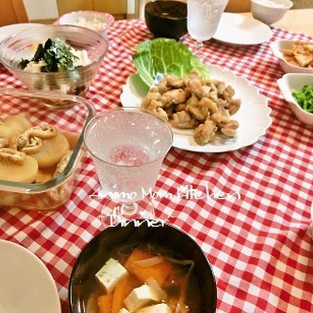 夏野菜がおいしい♪野菜たっぷりとうま塩からあげ。