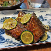 秋刀魚の焼き漬けすだち風味