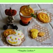 かぼちゃのおばけクッキー♪