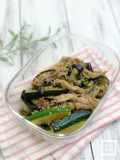 【レシピ】豚肉と夏野菜の味噌炒め&リメイクアイディア