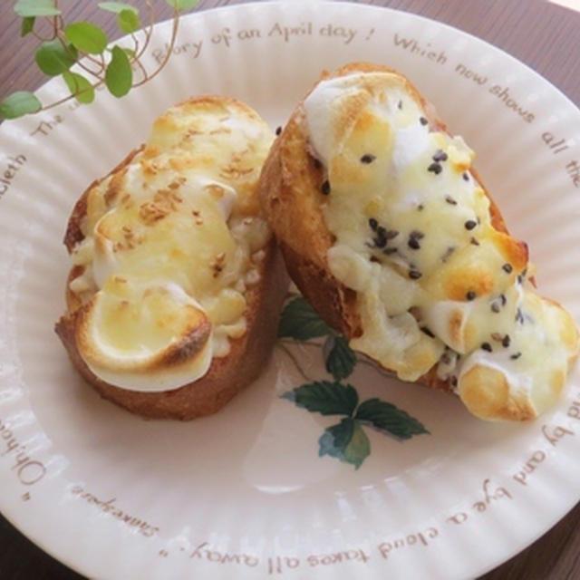 ごま香るマシュマロ・チーズトースト