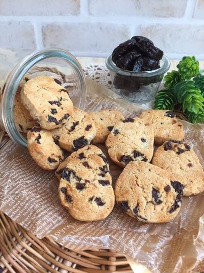 簡単おやつ♡卵・砂糖不使用‼︎ プルーンとココナッツのクッキー♪