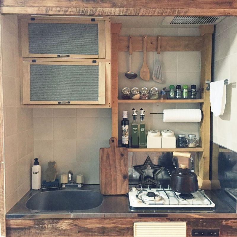 狭くてもおしゃれに!ひとり暮らしの素敵キッチンアイデア | くらしのアンテナ