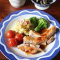ふっくらジューシー、鶏もも肉の柚子こしょう照り焼き。