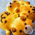 米油でパン生地 バレンタインデーにおすすめクマのちぎりパン