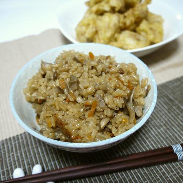 簡単!舞茸ご飯♪&天ぷら粉de簡単!鶏もも肉の天ぷら♪