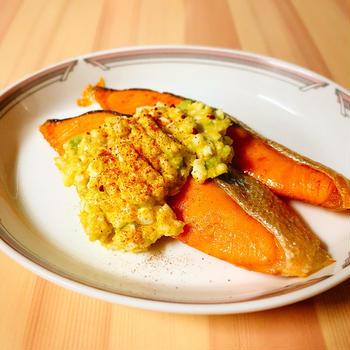 【ダイエットごはん】デトックス☆鮭のアボカドタルタルソースがけ