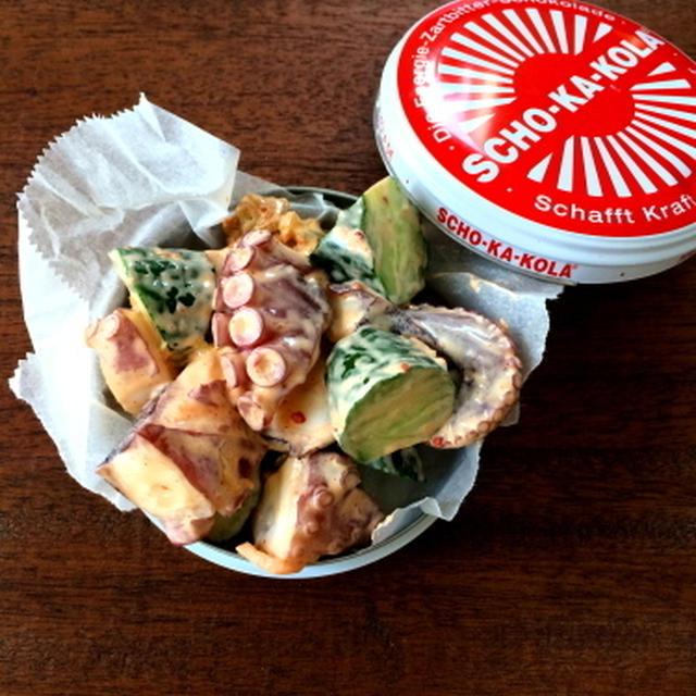 【簡単!!おつまみ】たこきゅうりキムチマヨ、たこきゅうり酢