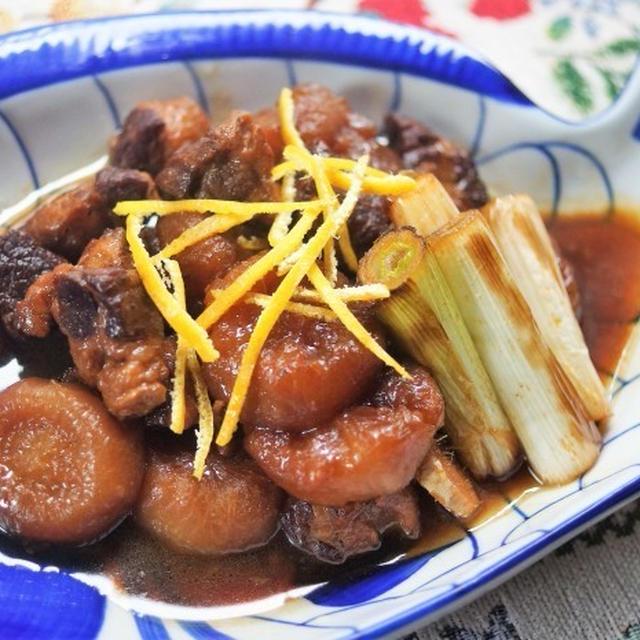 ■【菜園大根と豚胸ブロック肉のコッテリ煮】ちょっと煮過ぎましたが>。!