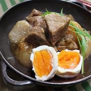 大根と豚肉のうま煮☆つるりと剥ける半熟卵の作り方