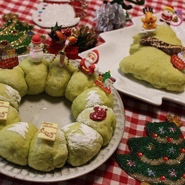 くらしのアンテナで掲載【レンジ発酵★クリスマスリースのちぎりパン】