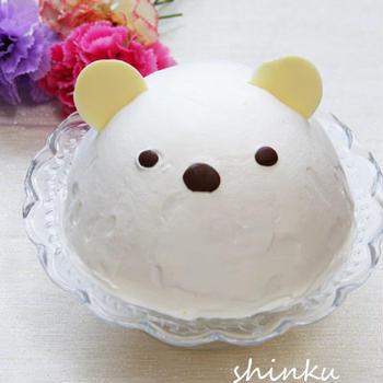 しろくまドームケーキ*いちごクリーム