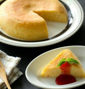 炊飯器で!米粉のヨーグルトチーズケーキ