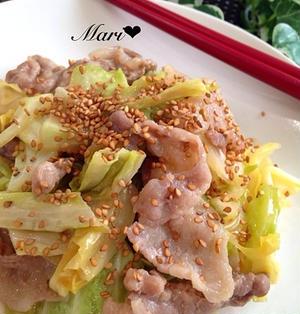 ♡ご飯が進む定番おかず*豚バラとキャベツの味噌炒め♡